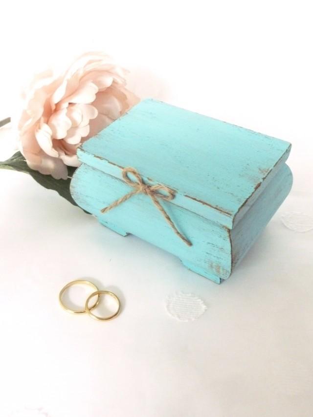 Wedding Ring Bearer Pillow Box Light Blue Ring Bearer Box Rustic Wedding Decor Beach Wedding Ring Box Wedding Box Ring Holder Personalized #2512676 - ...  sc 1 st  Weddbook & Wedding Ring Bearer Pillow Box Light Blue Ring Bearer Box Rustic ... Aboutintivar.Com