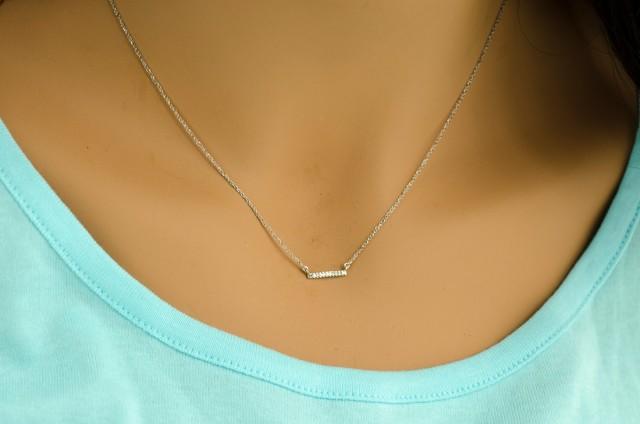 Diamond Necklace Bride Necklace Bride Jewelry Simple Diamond