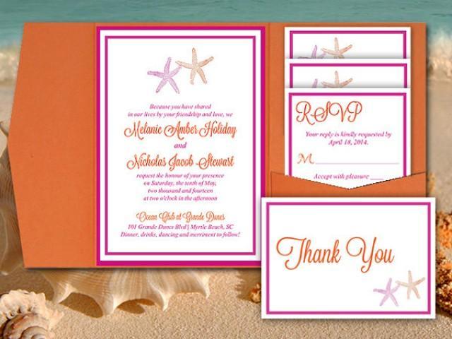 Starfish Wedding Pocketfold Template