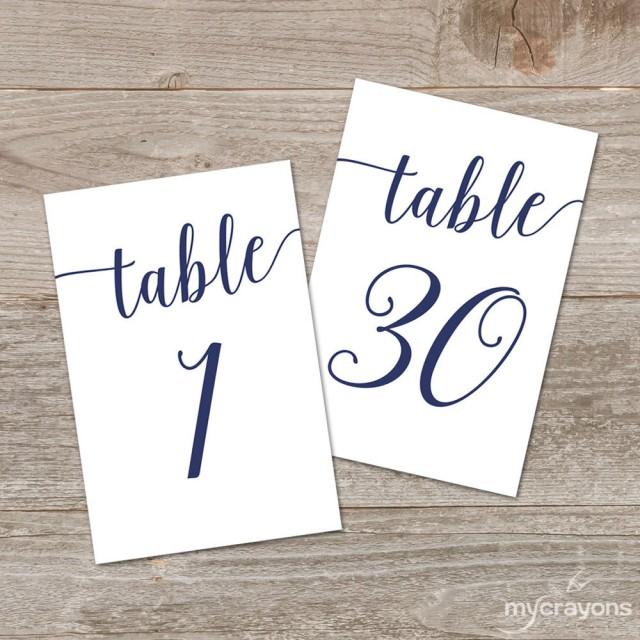 It is a graphic of Old Fashioned Free Printable Table Numbers 1-30