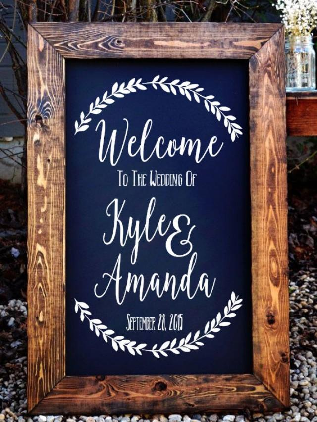 Welcome To The Wedding Of Decal Stencil Decal