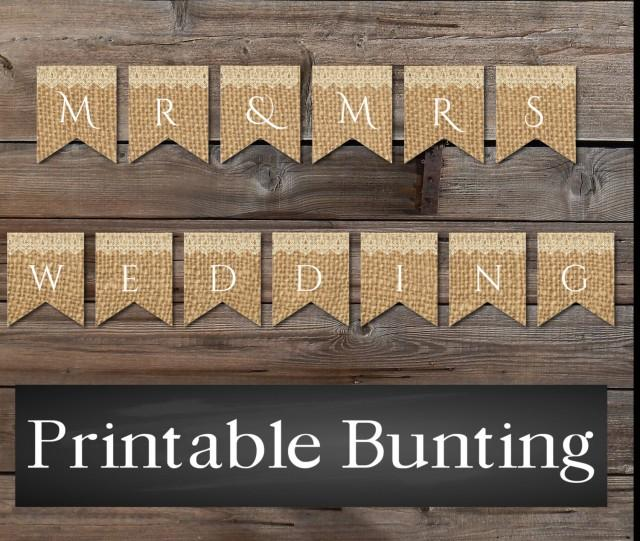 Cake Bunting, Instant Download, Burlap Lace Rustic Banner ...