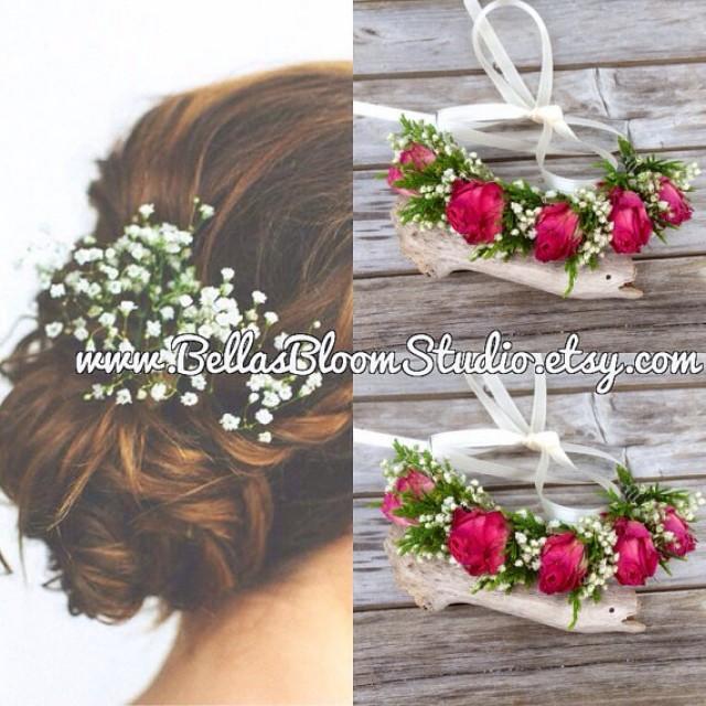 db1287d0e3951 Baby Breath Fresh Flowers, Baby Breath Hair Vine, Baby Breath crown, Dried Flower  Hair Vine, baby breath headpiece, Flower Hair Vine,Etsy