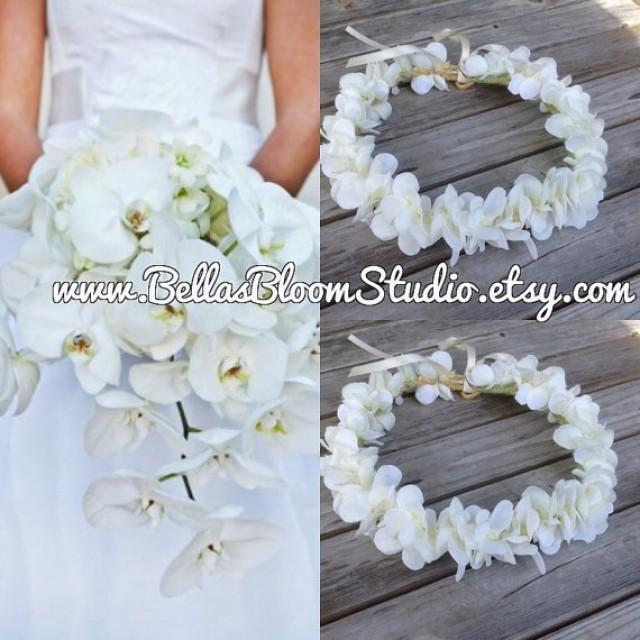 White flower crown hawaiian flower crown tropical white crown white flower crown hawaiian flower crown tropical white crown bridal white headpiece white tiara beach wedding flower girl crownetsy 2516423 mightylinksfo