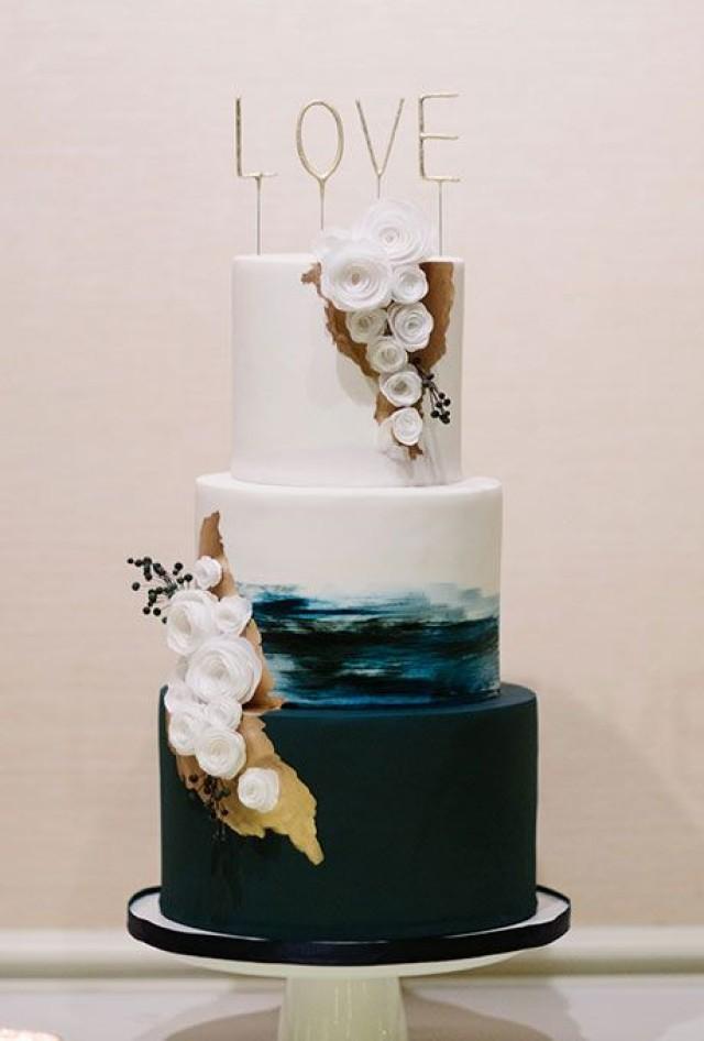Gateau Dark Wedding Cakes 2517098 Weddbook