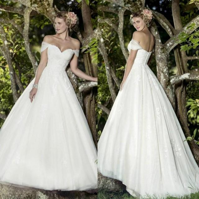 Simple Style 2016 Lace Wedding Dresses Off Shoulder Tulle