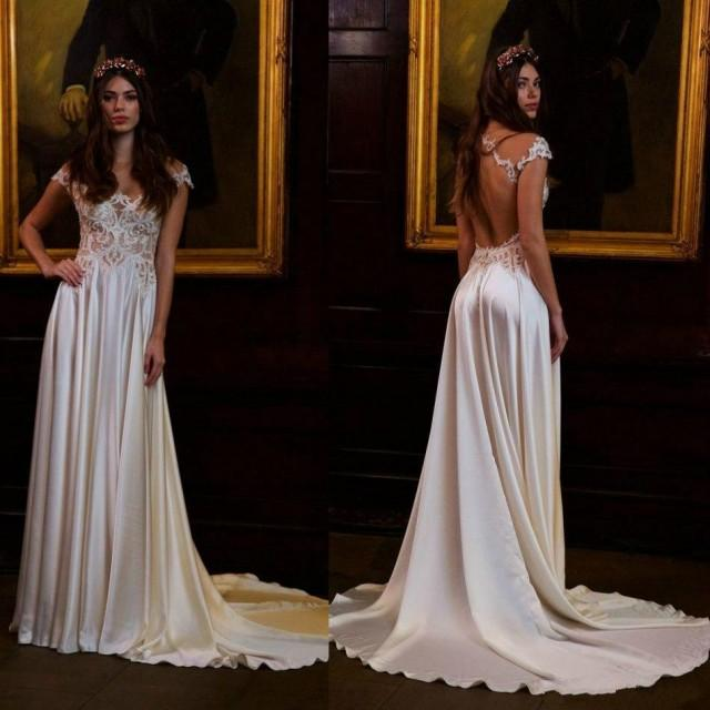Affordable Wedding Gowns Online: Newest Berta 2016 Wedding Dresses Cheap Short Sleeve Sheer