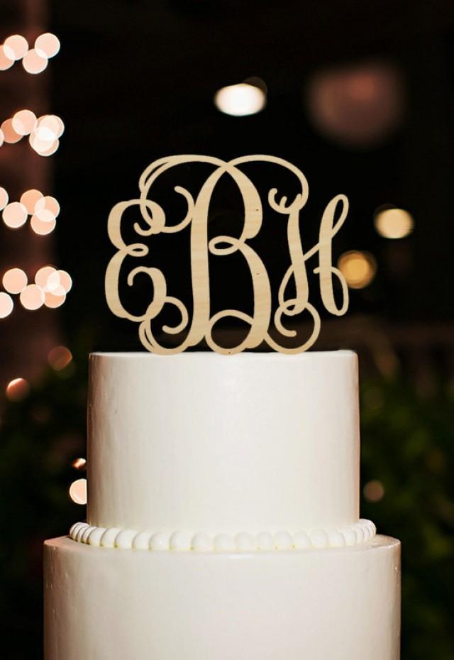 Monogram Cake Topper Custom Initial Cake Topper Wedding