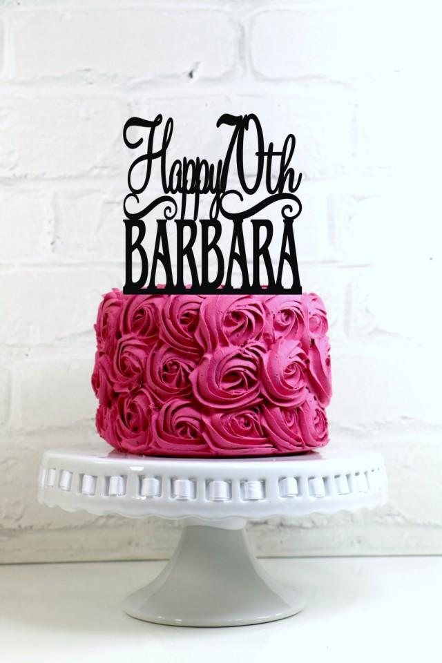 Happy 70th Birthday Cake Topper Personalized With Name And Age 2518715