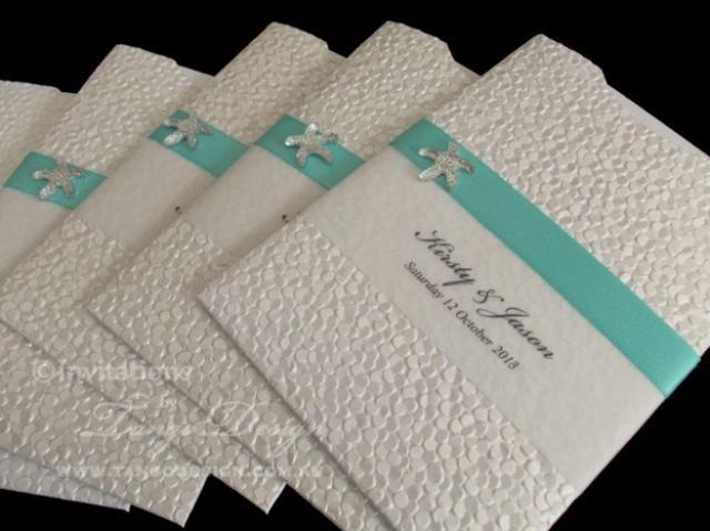 Wedding Invitations Handmade: Beach Wedding Invitations X24 With Starfish And Rsvp