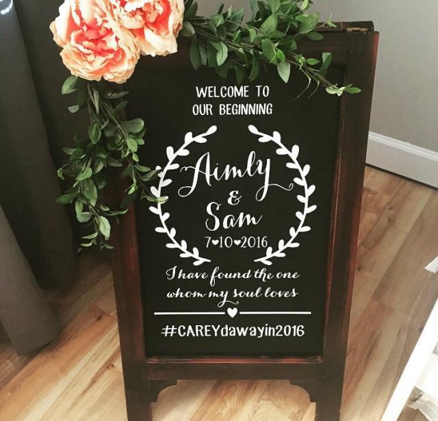 Welcome Wedding Chalk Board Sign Wedding Chalk Board