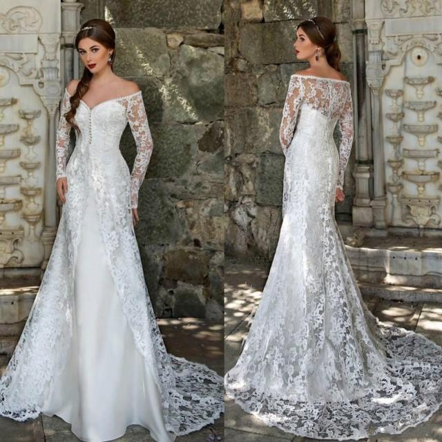 New arrival 2016 sheer satin wedding dresses overskirts for Vintage wedding dresses online shop