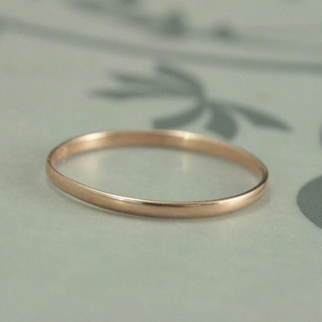 Jewels By Lux 14K Rose Gold 2mm Half Round Wedding Ring Band