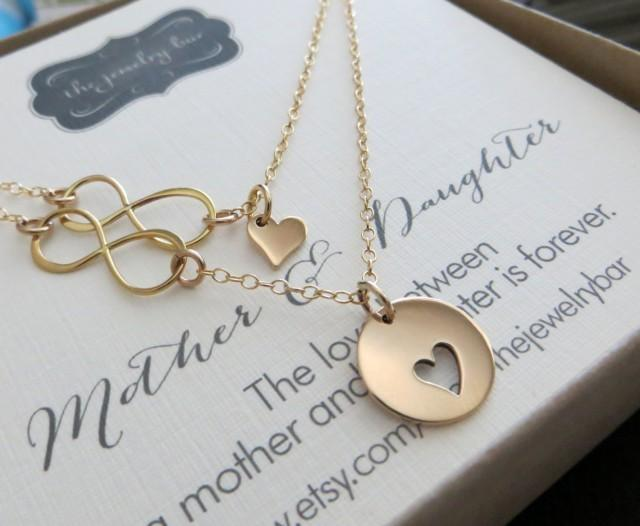 Mother Daughter Wedding Gifts: Mother Of The Bride Gift, Mother And Daughter Necklace