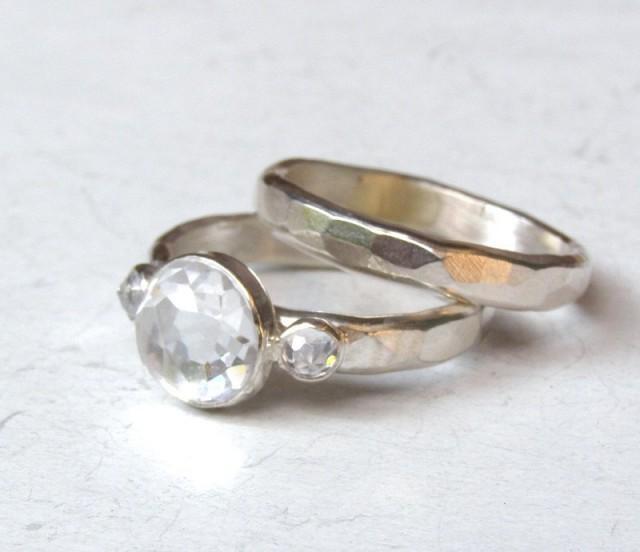 Bridal Set, Engagement & Wedding, Engagement Rings, Silver ...