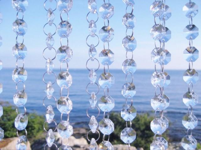 Bulk Christmas Garland.50 Ft Glass Crystal Glass Garlands Hanging Crystal Strands