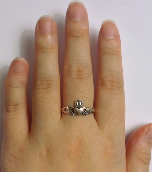 Girlfriend Silver Claddagh Unisex ring Friendship ring Silver Heart Ring Sterling Silver Claddagh Ring Best Friend Claddagh ring