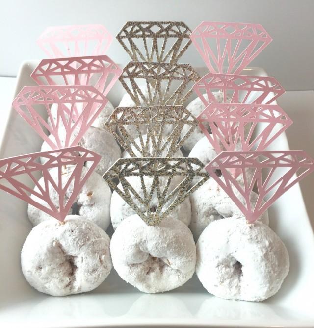 Diamond Cupcake Topper. Donut Toppers. Diamond Shaped ...