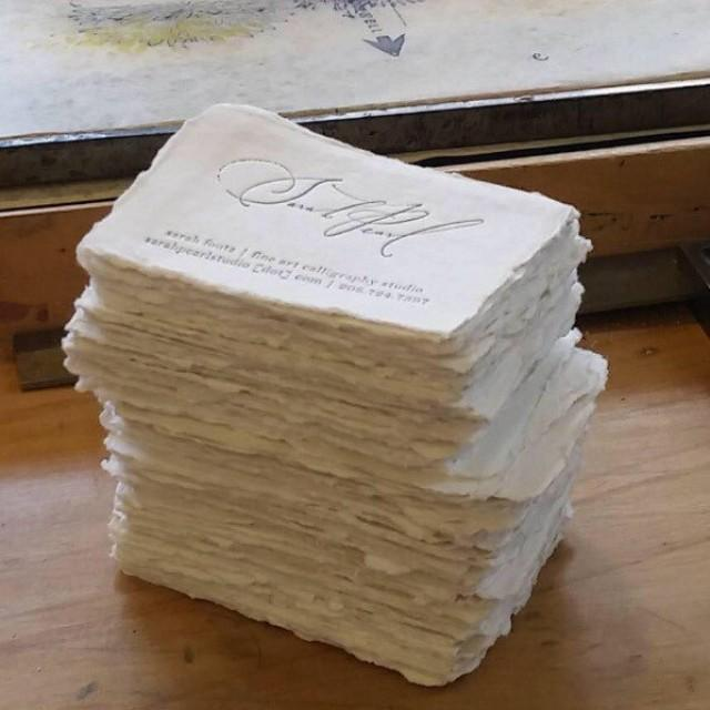 Letterpress business cards blank cotton paper deckle place escort letterpress business cards blank cotton paper deckle place escort cards deckled edge 2525427 weddbook colourmoves