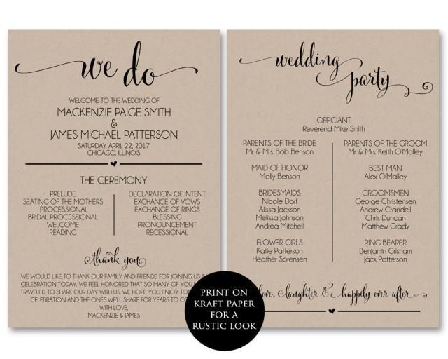 Fabulous image pertaining to free printable wedding programs