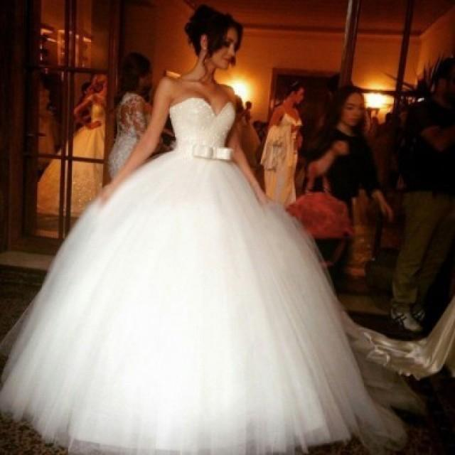 Sparkly Ball Gown Wedding Dresses White Sweetheart Princess With Bowknow 2525778 Weddbook,Mermaid Sweetheart Lace Romantic Wedding Wedding Dresses