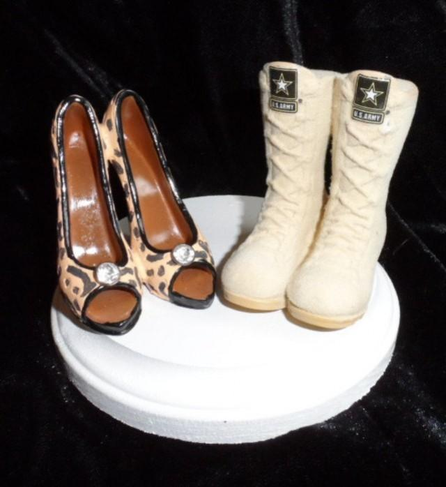 Army, Navy, Air Force, Marines Military Boot And High Heel Wedding ...