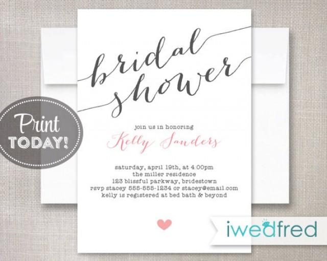 image regarding Free Printable Wedding Shower Invitations called Bridal Shower Invitation, Bridal Shower Invitation