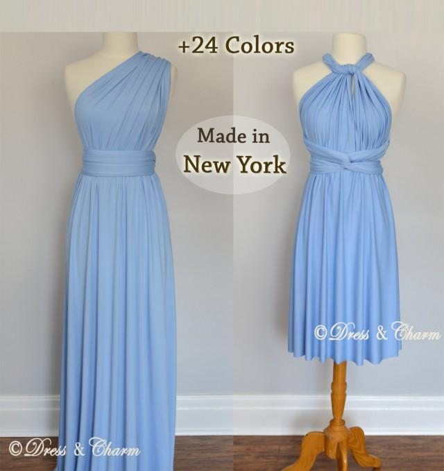 Baby Blue Infinity Bridesmaid Dress, Convertible Dresses, Party ...