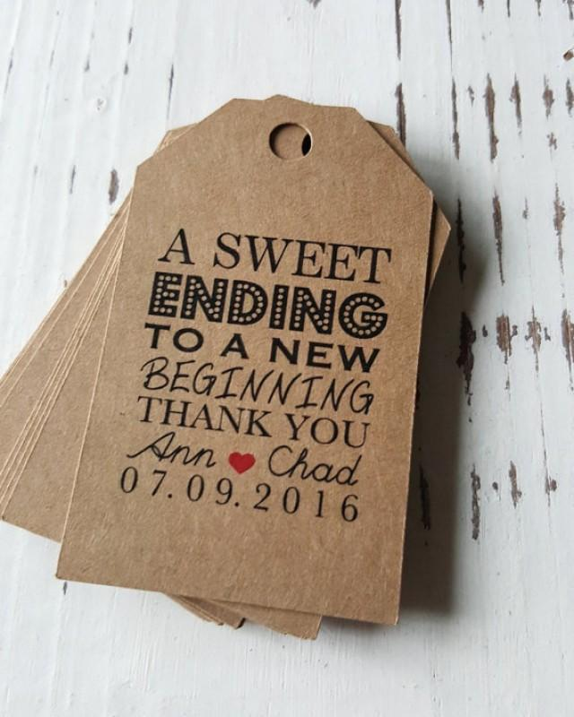 Thank You Quotes For Dinner Party: Favor Tags With Bakers Twine