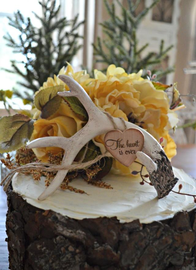 Buck Rack Gold Birthday Cake Topper Wedding Cake Topper Antlers Deer