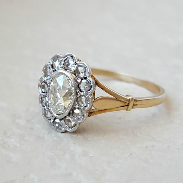 Antique Victorian To Edwardian Old Cut Diamond Pear