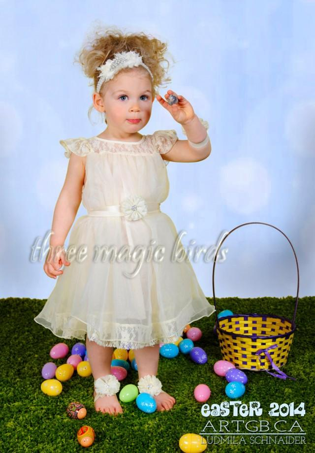 8843612b69 Flower Girl Lace Dress Infant Size Boho Bridesmaid Junior Baptism Country  Wedding Long Sleeve Rustic Communion Beach Wedding Vintage Toddler #2528875  - ...