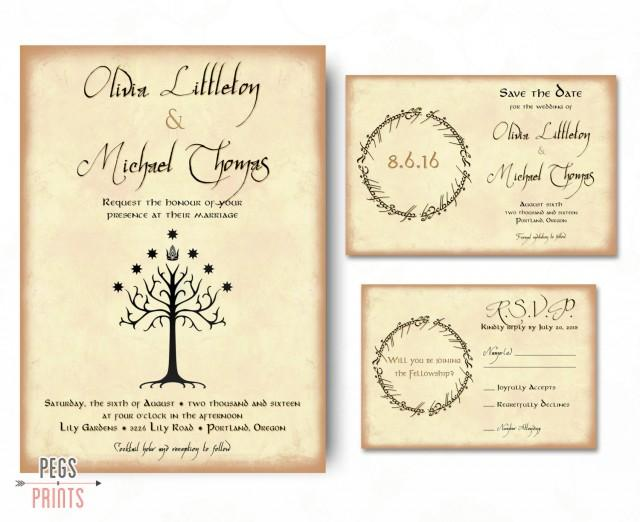 Geek Wedding Gifts: Geek Wedding Invitation Set