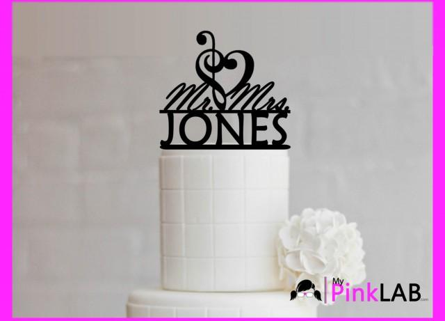 Mr And Mrs Cake Topper Music Note Cake Topper Wedding Musical