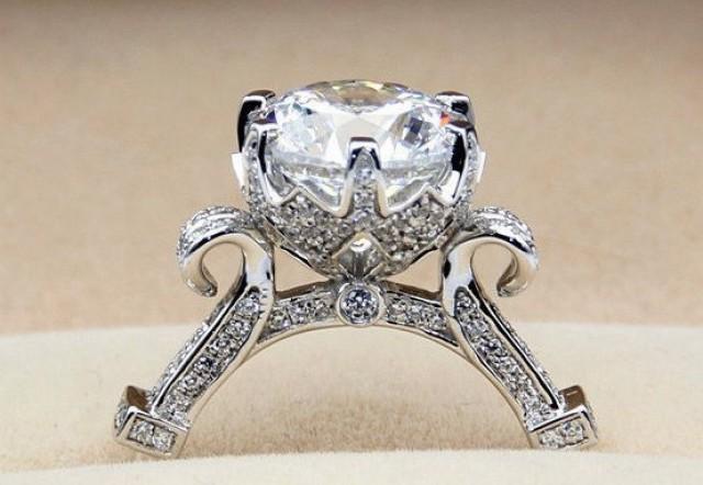 3 Carat Diamond Cinderella Pumpkin Carriage Fairy Tale Wedding