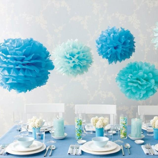 Tremendous Baby Blue Light Blue Tissue Paper Pom Pom Set 2531085 Interior Design Ideas Clesiryabchikinfo