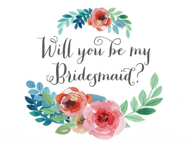 Ridiculous image for free printable bridesmaid card