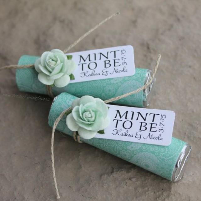 Mint Wedding Ideas: Set Of 24 Mint Rolls