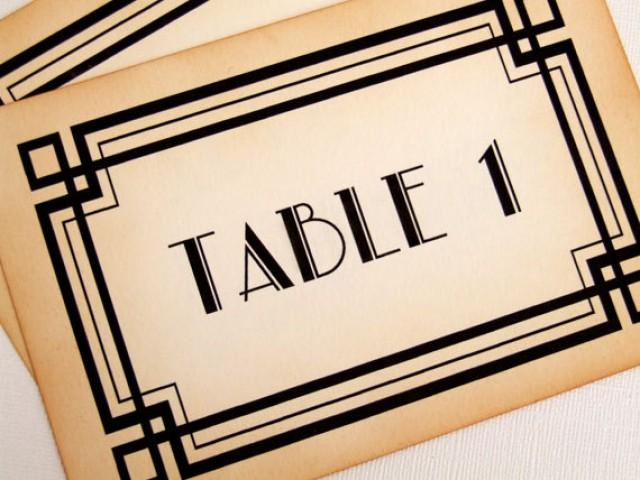 Art Deco Table Numbers Great Gatsby Wedding Table Numbers