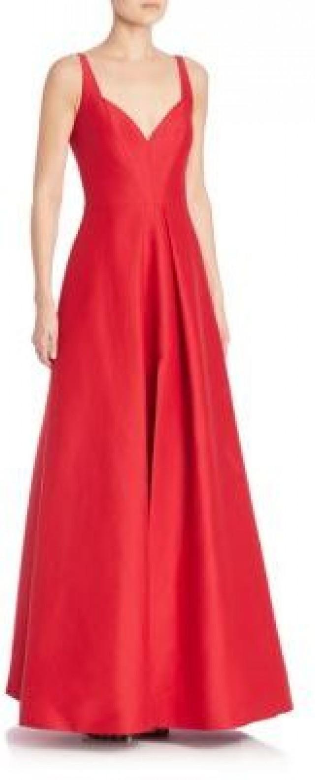 Halston Heritage Solid Pleated Gown #2533630 - Weddbook