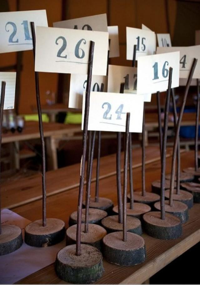 Wooden Table Number Holders Wedding Rustic Shabby Chic - Custom restaurant table numbers