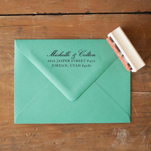 Custom Return Address Stamp, Wedding Invitation Stamp