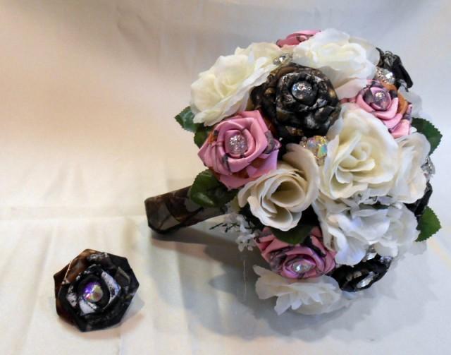 Camo Wedding Bouquet Bridal Bouquet Mossy Oak Camo True Timber