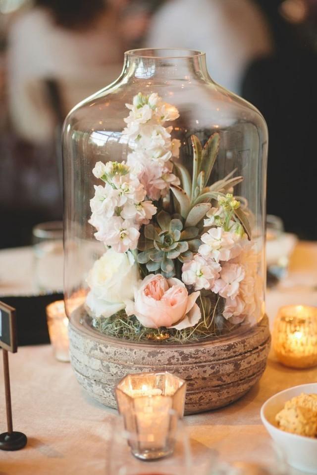 Wedding Theme Rustic Terrarium Wedding Centerpiece 2535690 Weddbook
