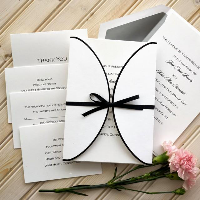 Formal Attire On Wedding Invitation: Ribbon Wedding Invitation Set