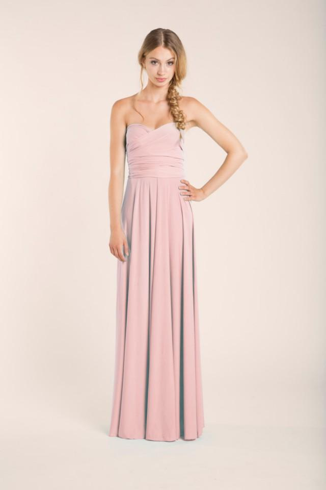 Rose Quartz Infinity Dress Long Rose Quartz Bridesmaids