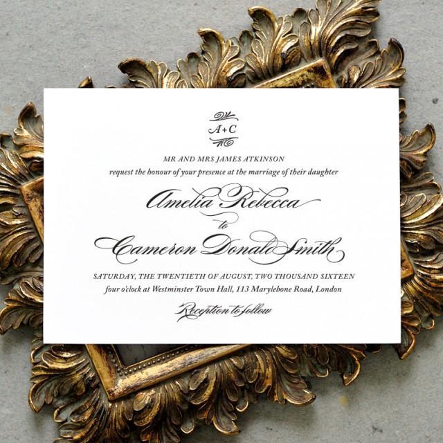 Printable Wedding Invitation PDF / 'Traditional Elegance