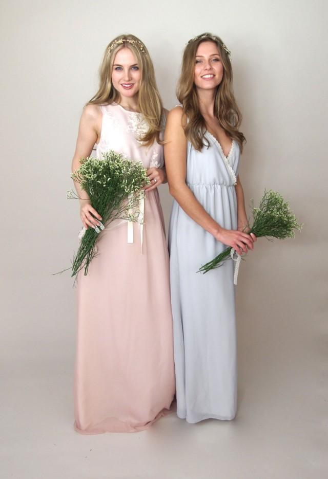 Athena Cross Over Chiffon Bridesmaid Dress Country Wedding Vintage Style Bohemian Grecian Maxi Pee Tall Bespoke 2537764