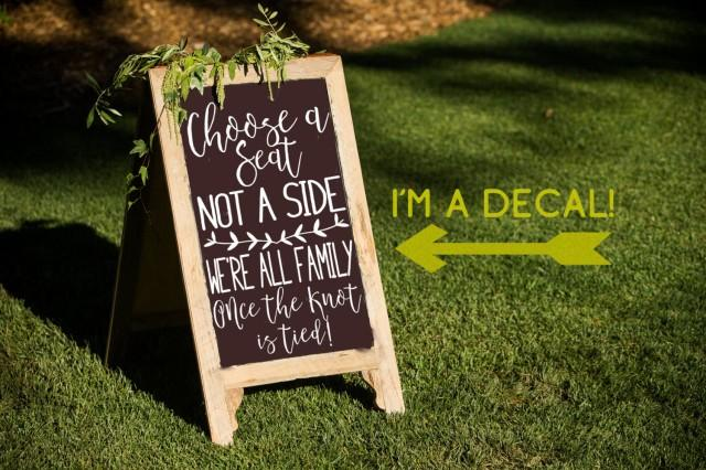 Choose A Seat Not A Side Decal Ceremony Sticker