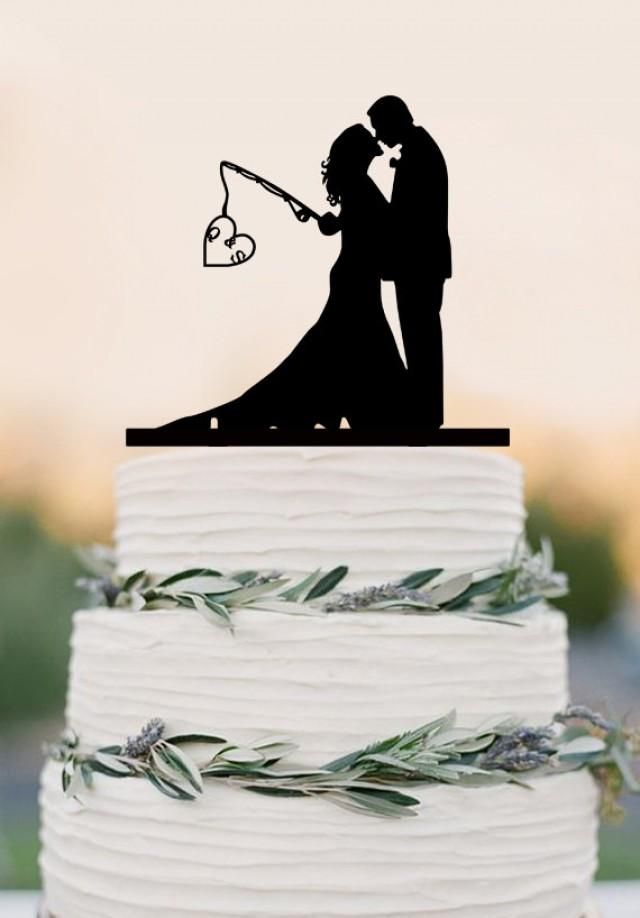 Fishing Wedding Cake Topper Uk